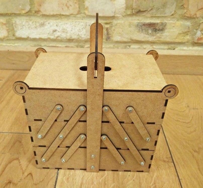 Laser Cut Pivoting Box Wood Free DXF File