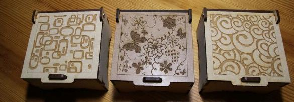 Laser Cut Jewelry Boxes Free CDR Vectors Art