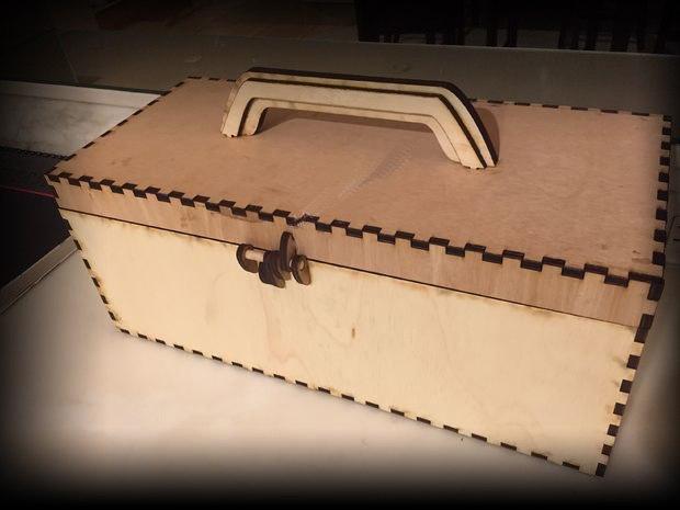 Laser Cut Tool Box Free CDR Vectors Art
