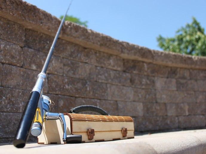 Mini Tackle Box For Pen Fishing Rods Free CDR Vectors Art