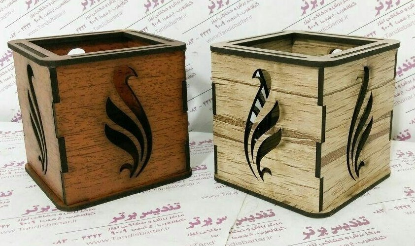 Wooden Box For Pens Pencils Free CDR Vectors Art