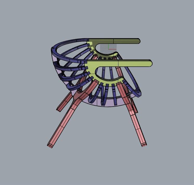 Chair Shell 4 Legs Free CDR Vectors Art