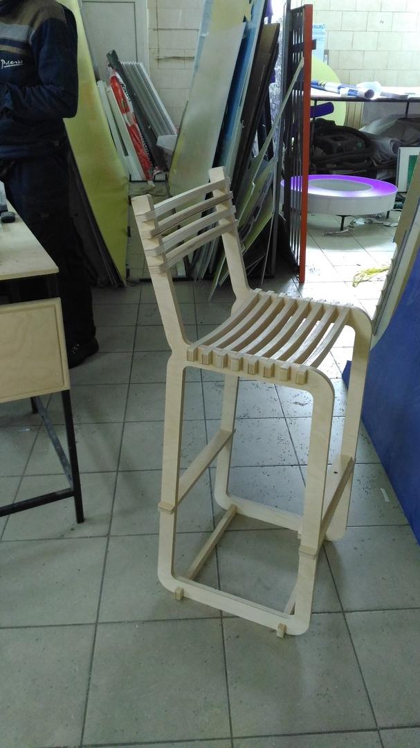 Chair Wood Free CDR Vectors Art
