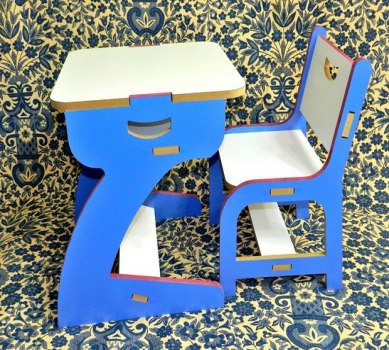 Children Table And High Chair Free CDR Vectors Art