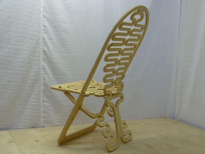 Cnc Cut Folding Chair Free CDR Vectors Art