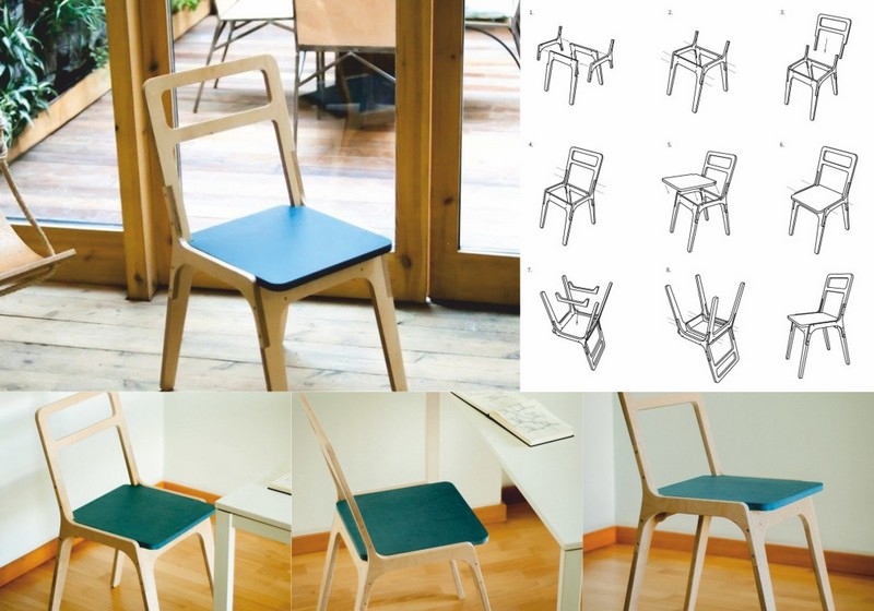 Chair Wood Laser Cut Free DXF File