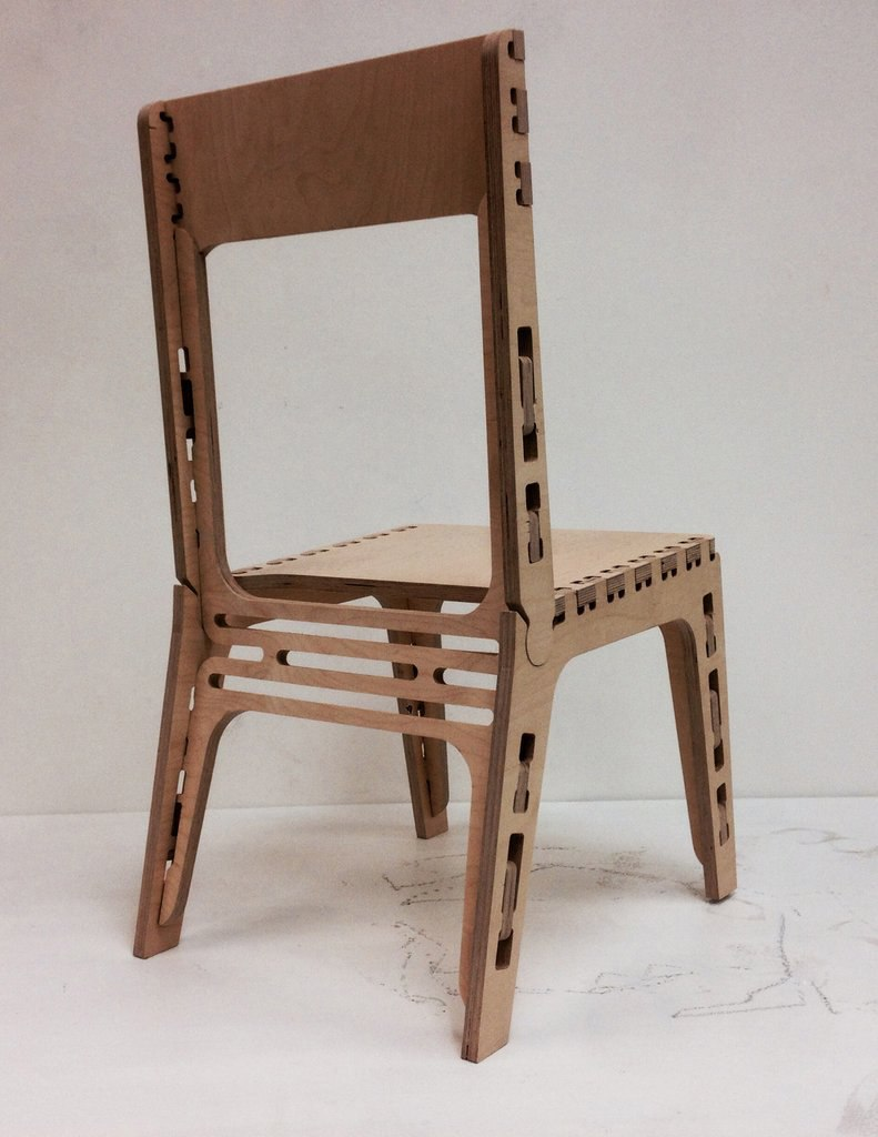 Chair Wooden Simple Free DXF File
