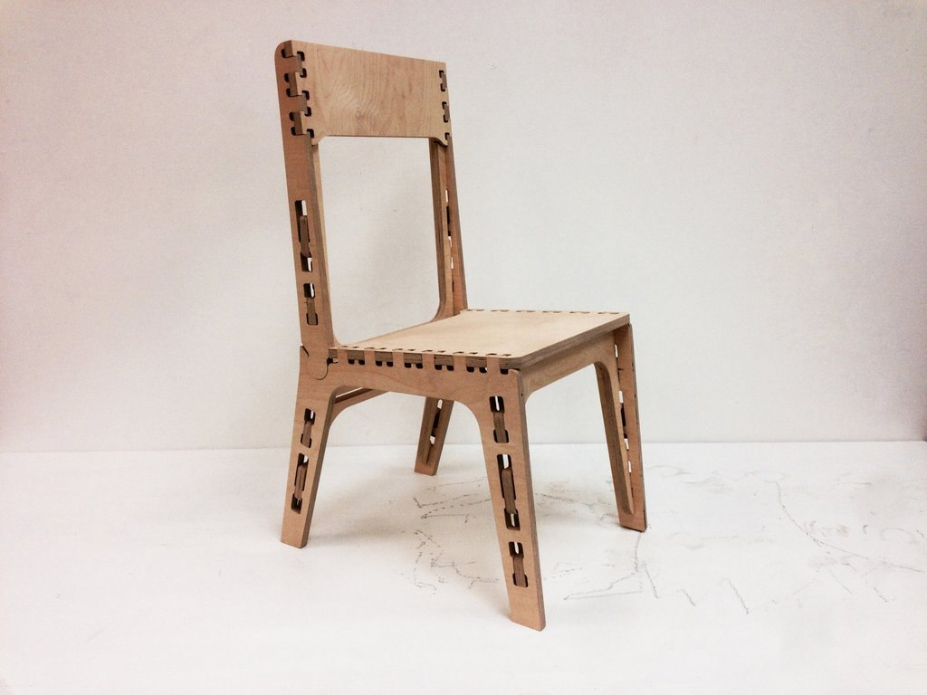 Chair Wooden Free DXF File