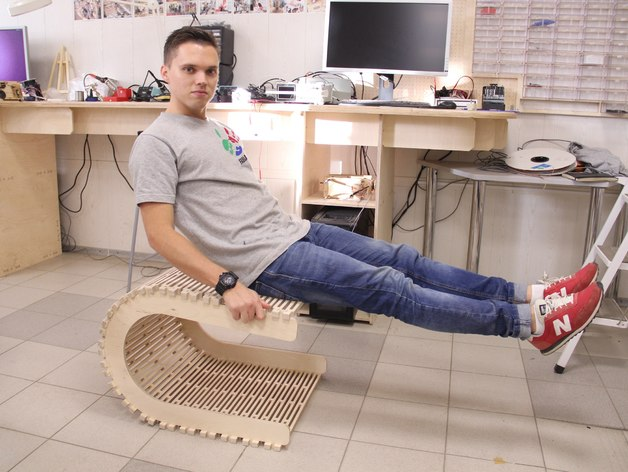 Flexible Chair Made Of Plywood Free DXF File