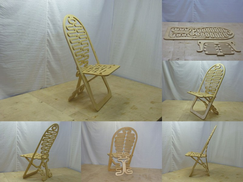 Folding Chair Design Free DXF File
