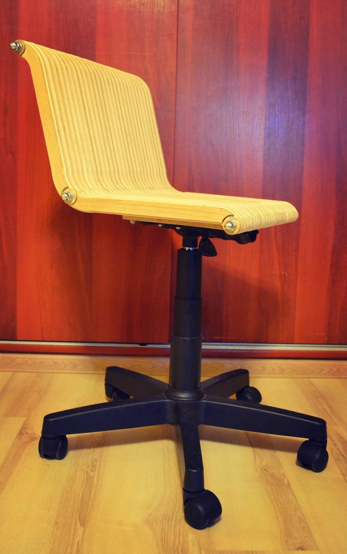 Laser Cut Computer Chair Free DXF File