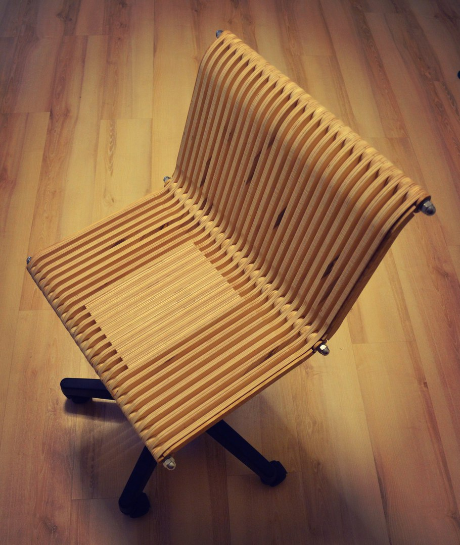 Laser Cut Computer Revolving Chair Free DXF File