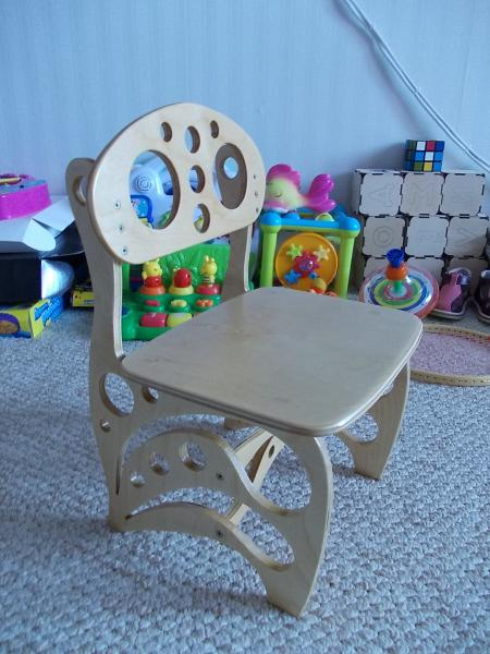 Laser Cut Wood High Chair Free DXF File