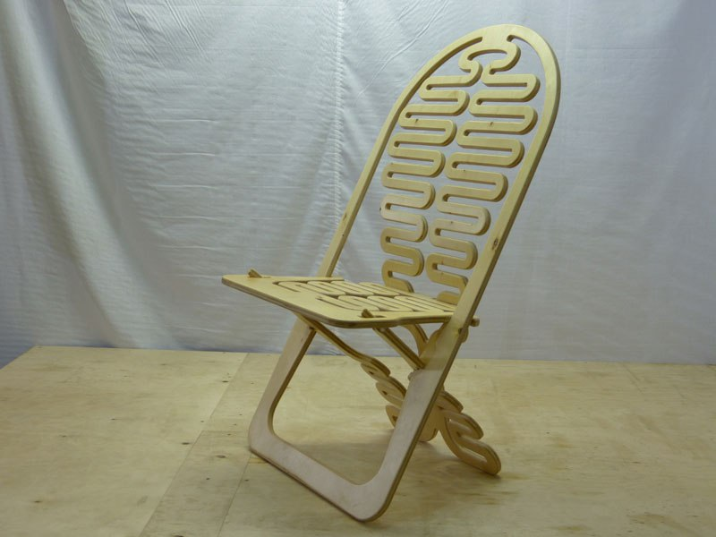 Laser Cut Wooden Folding Chair Free DXF File