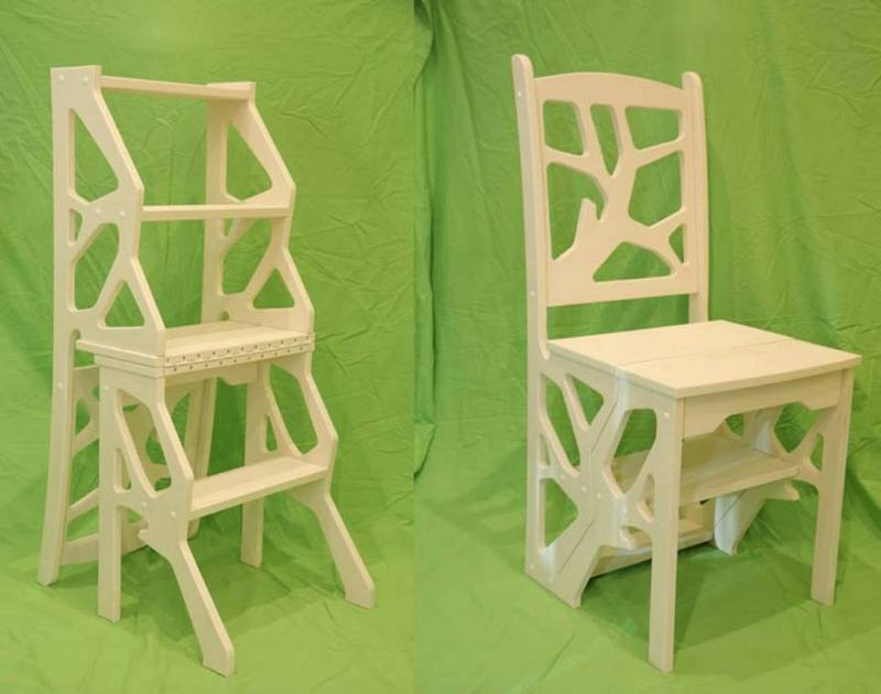 Stepladder Chair Free DXF File
