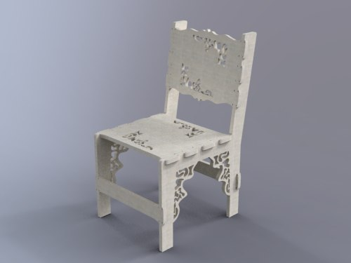 White Chair Free DXF File