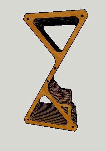 Cnc Laser Cut Parametric Delta Bar Stool Free CDR Vectors Art