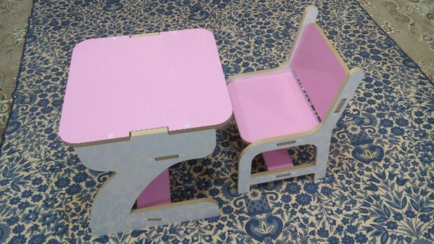 Laser Cut Baby Chair And Table Free CDR Vectors Art