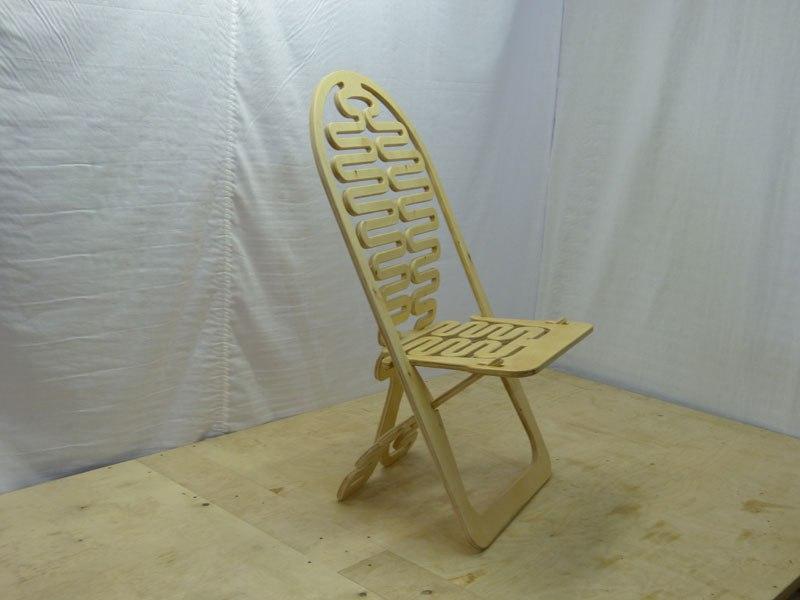 Laser Cut Folding Chair Design Free CDR Vectors Art