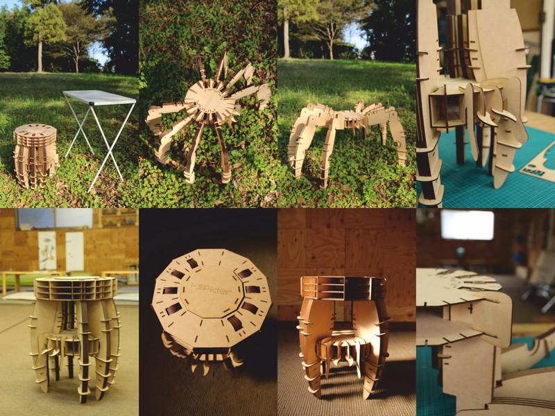 Spider Chair Free CDR Vectors Art