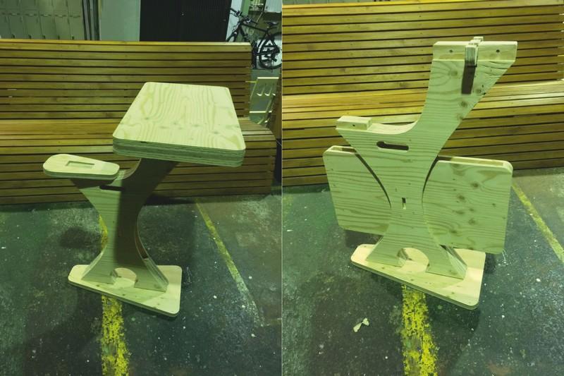 Table Chair Standing Swan Free CDR Vectors Art