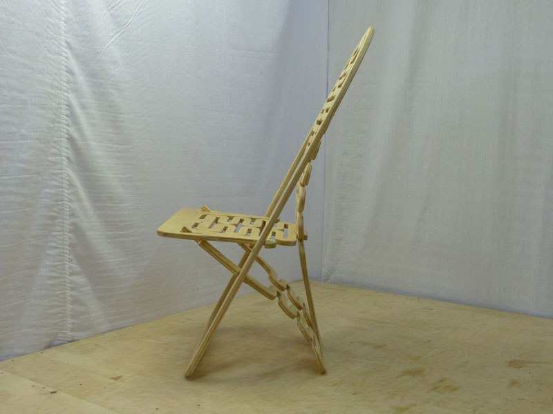 Wooden Folding Chair Design Free CDR Vectors Art