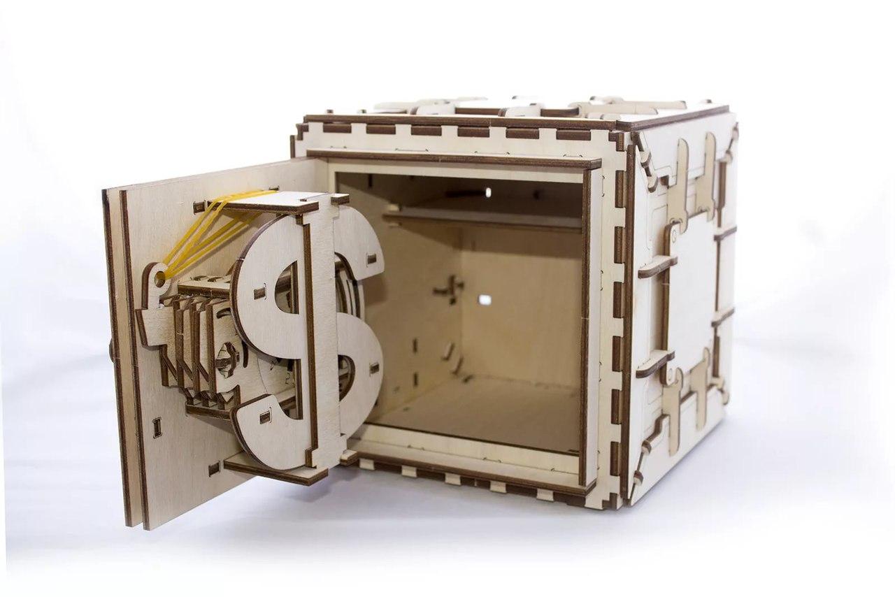 3d Puzzles Safe Mechanical Models Wooden Puzzle Brain Teaser Construction Free CDR Vectors Art
