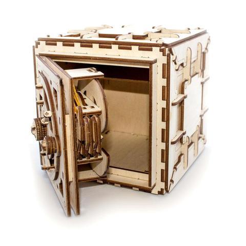 3d Wooden Safe With Working Lock Mechanism – 3d Kit  Puzzle Free CDR Vectors Art