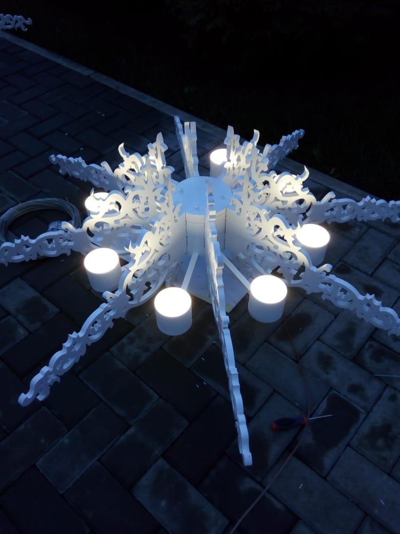 Amazing Laser Cut Ceiling Lights Free CDR Vectors Art