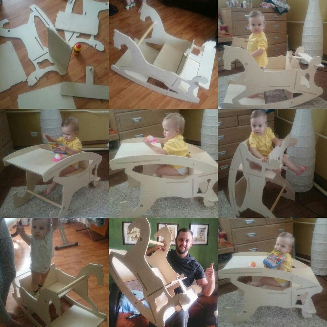 Assembling A Toddler Feeding Chair Laser Cut Free CDR Vectors Art