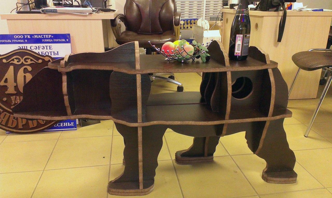 3d Puzzle Bear Table 20mm Free CDR Vectors Art