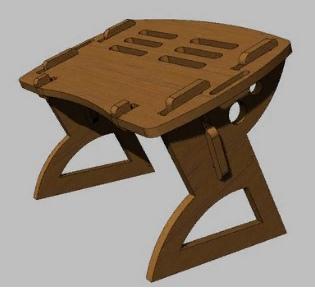 Laptop Folding Table Free CDR Vectors Art