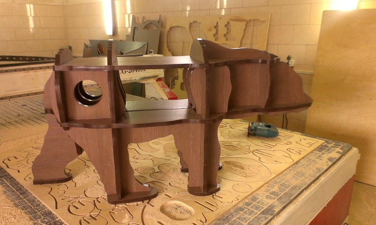 Laser Cut Bear Table ldsp16-5mm Free CDR Vectors Art
