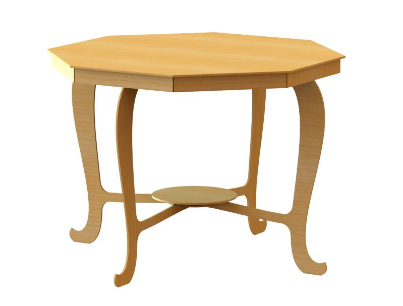 3D Laser cut Dining Table Free DXF File