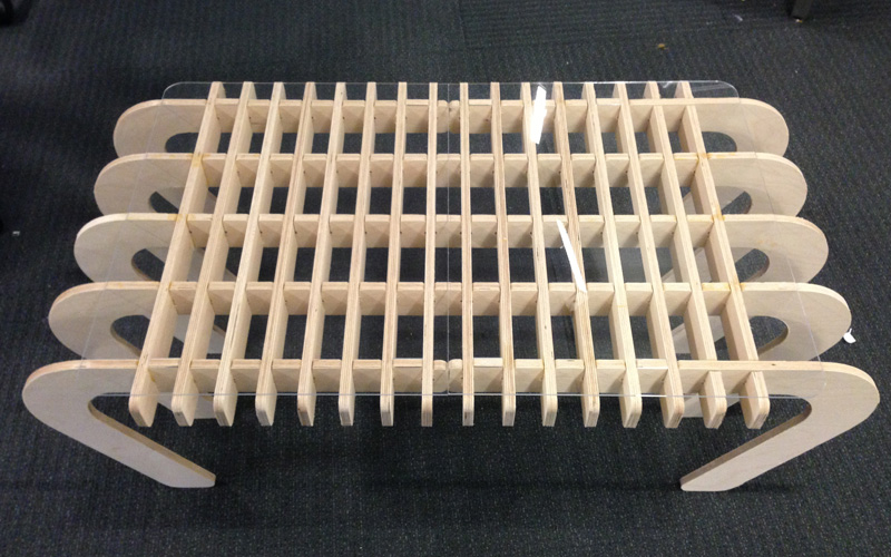 Laptop Table Wooden Free DXF File