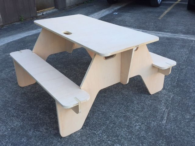 Picnic Table (plywood 18mm) Free DXF File