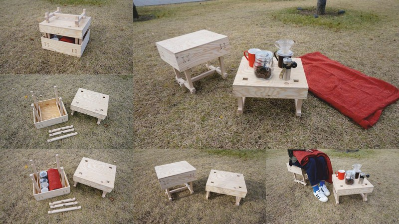 Picnic Table Wood Laser Cut Free DXF File