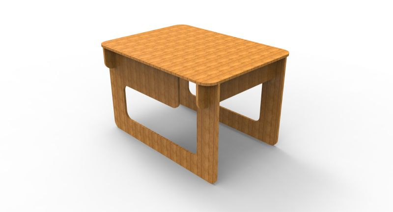 Small Table Free DXF File