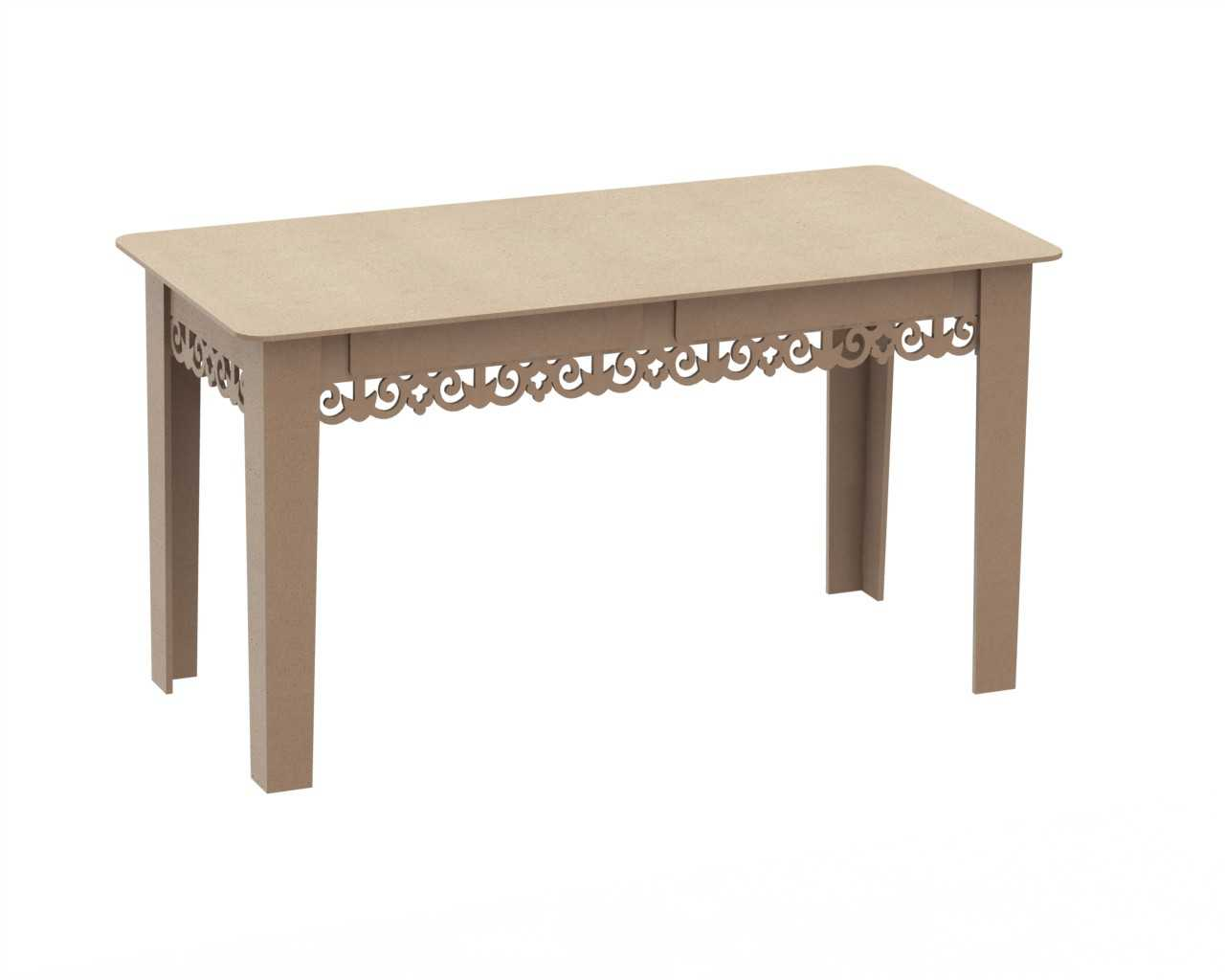 Table With 2 Drawers Free DXF File