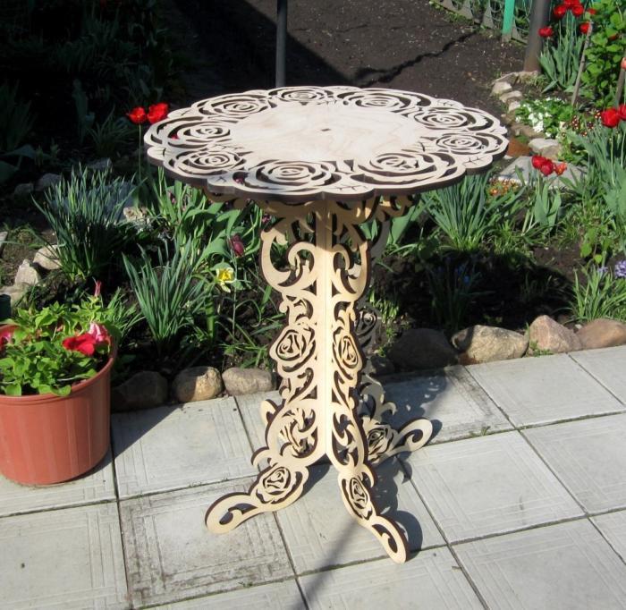Openwork Table Laser Cut Free CDR Vectors Art