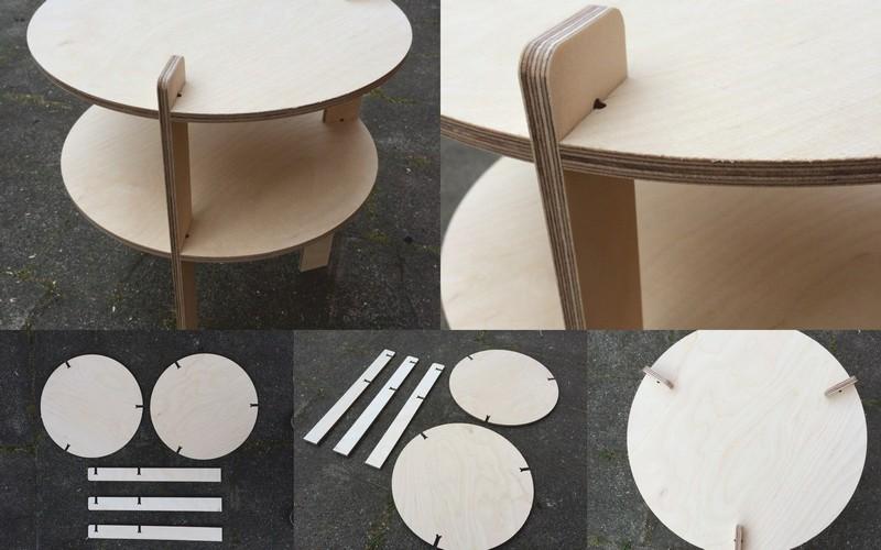 Round Table 650x650x800 Free CDR Vectors Art