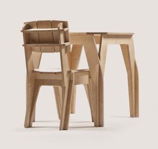 Table And Chair Design Wooden Free CDR Vectors Art