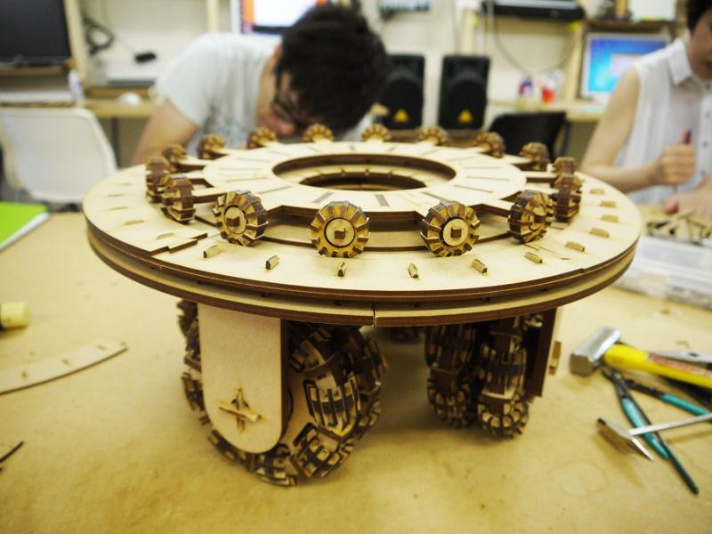 Wheel Stool Table Free CDR Vectors Art