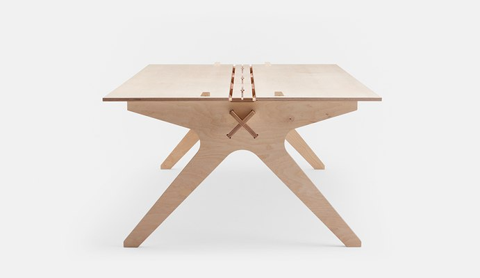 Wooden Office Table Free DXF File