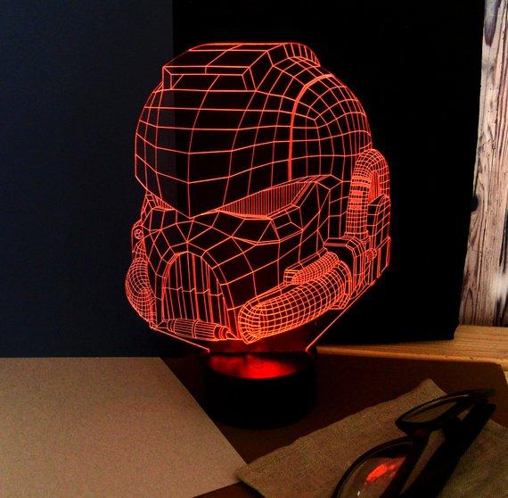 3d Led Illusion For Your Desk Free CDR Vectors Art