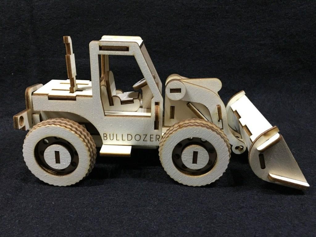 Bulldozer Laser Cut Free CDR Vectors Art