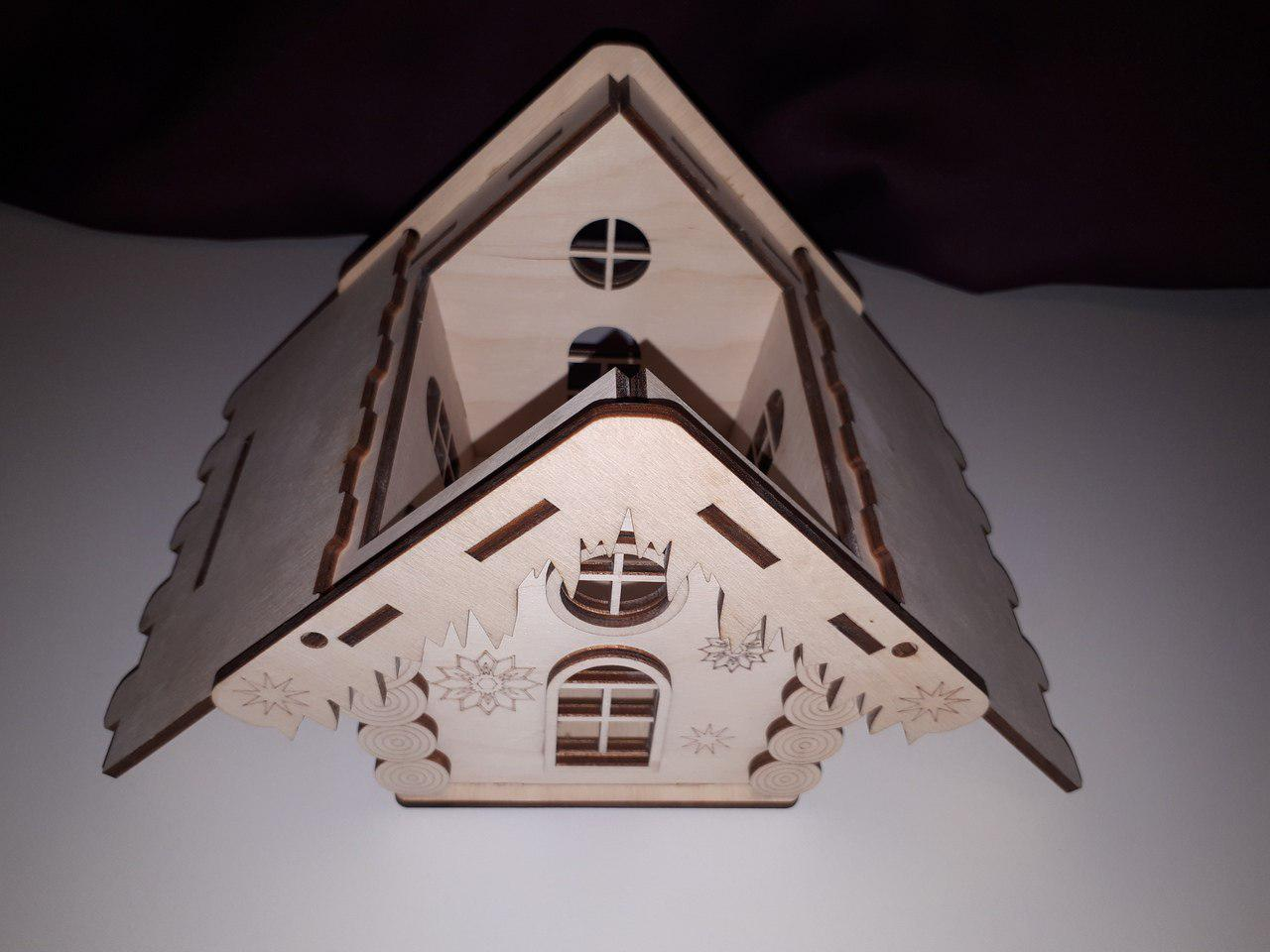 Christmas House Design Cutting And Laser Engraving Free CDR Vectors Art