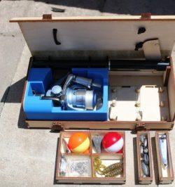 Cnc Laser Cut Travel Tackle Box Free CDR Vectors Art