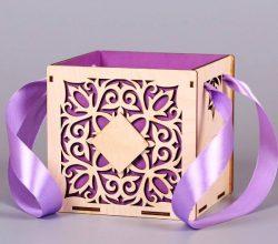 Cnc Laser Cut Wedding Gift Box Free CDR Vectors Art