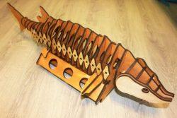 Cnc Laser Cut Wine Box Shaped Like Silkworm Fish Free CDR Vectors Art